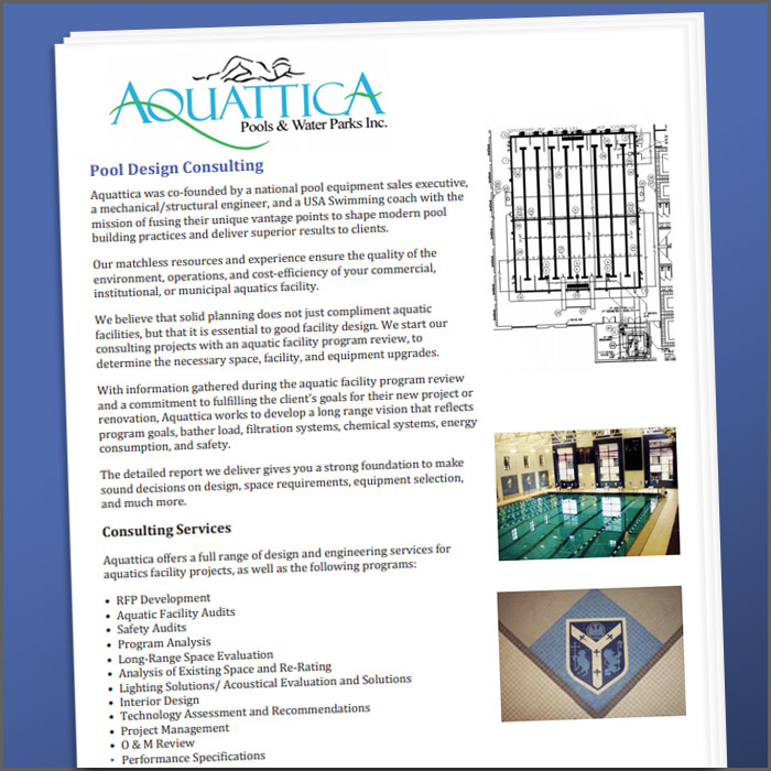 Aquattica Pool Design Services